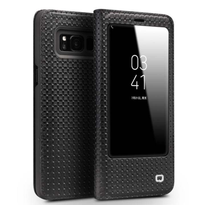 Uptop Qialino II Tank Case Cover Ultrathin Tas Lipat Tidur Bangun untuk Samsung Galaxy S8 Grid Pola