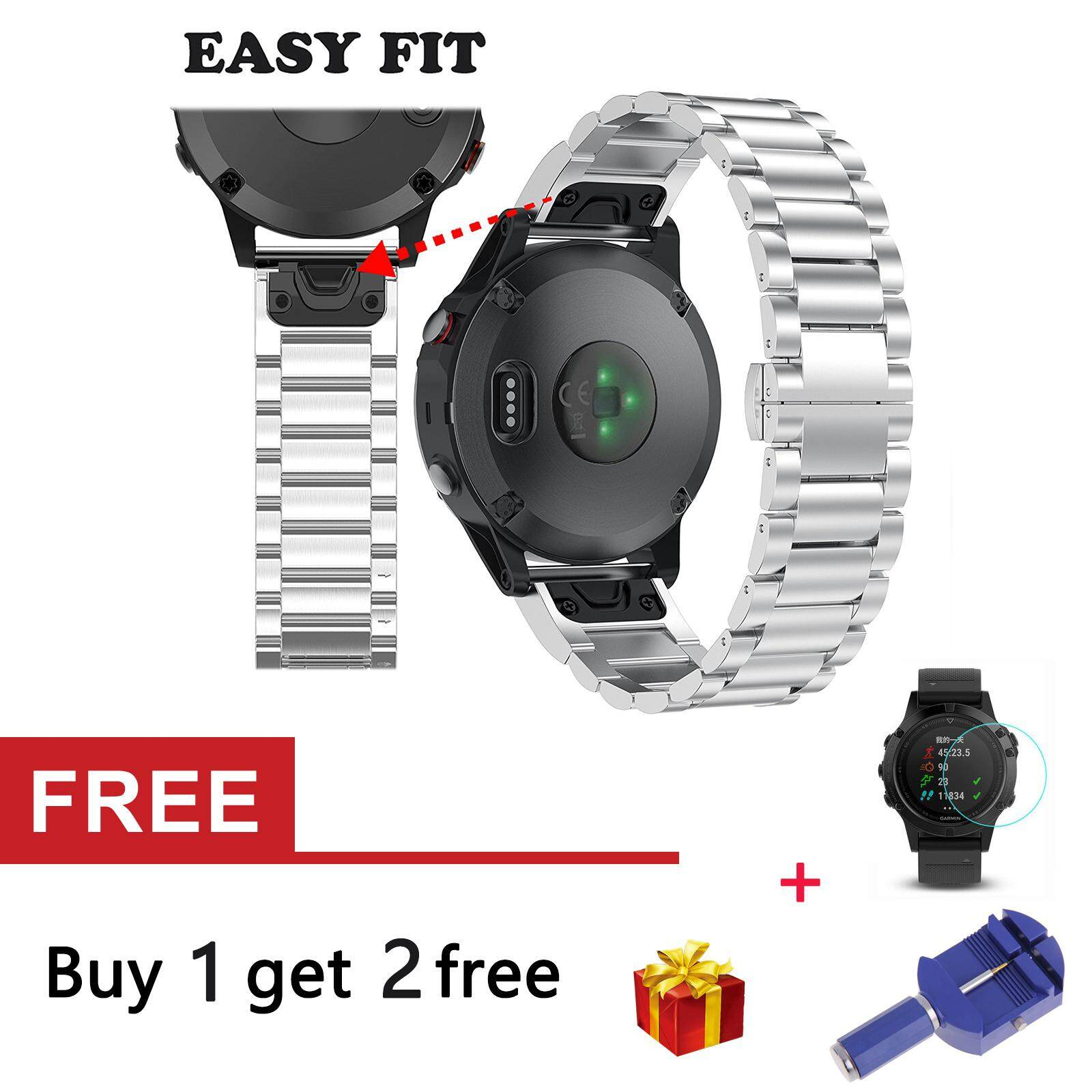 Price Quick Release Stainless Steel Strap Band For Garmin Fenix 5 Forerunner 935 Intl On China