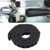 R28 1000mm//40 Black Less Noise Nylon Drag Nylon Wire Cable Drag Chain Carrier Nylon Towline for 3D Printer//Robot//Transportation//Warehouse Cable Drag
