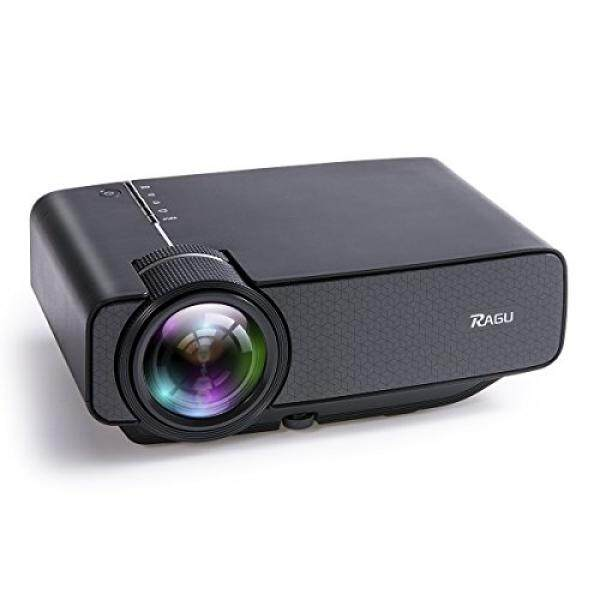 RAGU Z400 1600 Lumens Mini Portable Projector, Home Entertainment Video Projector Movie Theater LED Multimedia Projector Support HD 1080P for PC Laptop PS4 XBOX Smartphone Android iPhone TV Box, Black - intl