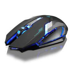 Rechargeable X7 Wireless Silent LED Backlit USB Optical Ergonomic Gaming Mouse Malaysia