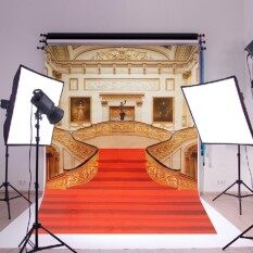 Red Carpet Stairs Retro Cool Wall Art Huge Silk Poster Romantic Decor Size 900X600mm/35