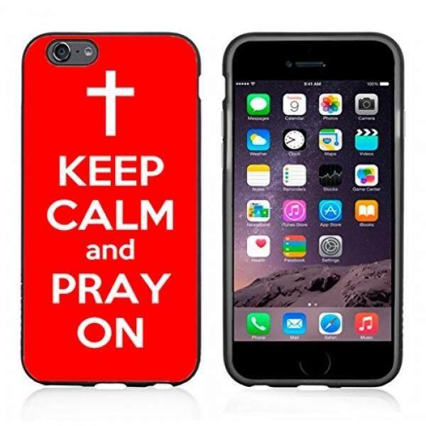 Merah Tetap Tenang dan Berdoa Di Case/Cover untuk iPhone 6 atau 6 S dengan Atom Pasar-Intl