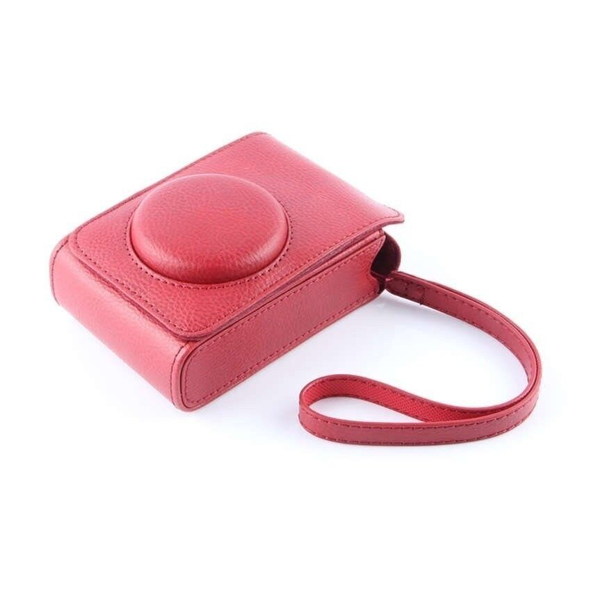 Merah PU Kulit Kasus Digital Kamera Kemasan Tas ForFujifilmXQ1XQ2 XF-1 XF1 Kamera Digital Sheng HOTT 361-Internasional