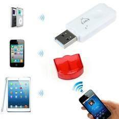Merah USB Nirkabel Bluetooth Audio Musik Adaptor Penerima untuk iPhone 4 5