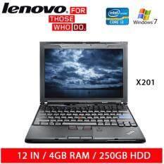 Refurbished Lenovo X201 Laptop / 12in / i3 / 4GB RAM / 250GB HDD / W7 / 1mth Warranty Malaysia