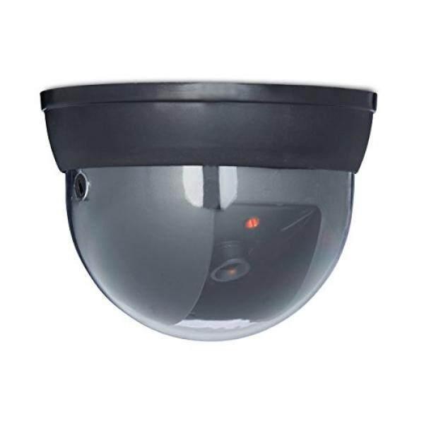 Relaxdays Dummy กล้องโดม MIT LED - Licht, MIT verstellbarem Kamerawinkel, Sicherheitskamera, Dummy