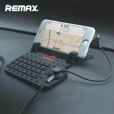 Remax Universal Mobile Holder with Charging USB Cable for Micro + iPhone 5 6 5s 6s 7 Plus SE Car Dashboard Adjustable Bracket Magnet Connect
