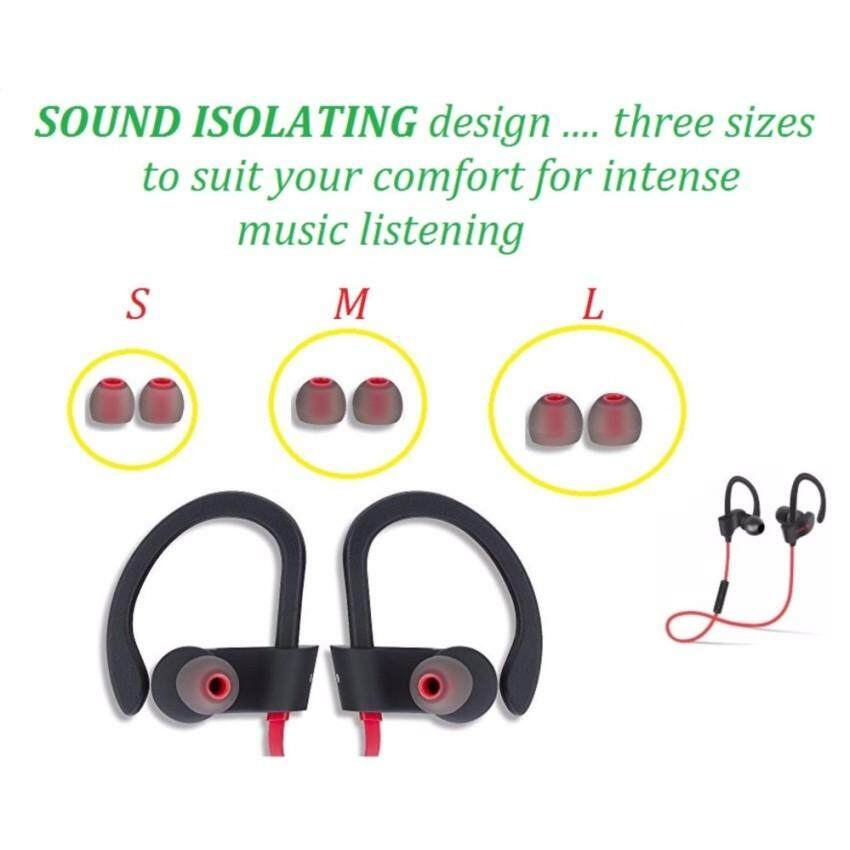 Replacement Silicone Earbuds for 56S Bluetooth 4.1 Wireless Headset Outdoor Sports Running Stereo Music Smartphones Water