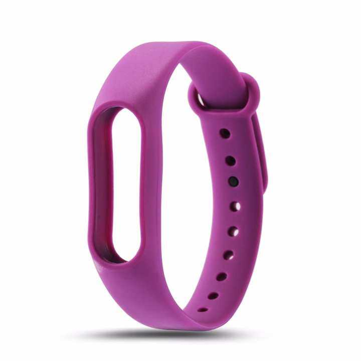 Replacement Silicone Wristband for Xiaomi Mi Band 2 / Strap Wristband Accessories / Xiaomi Mi Band 2 Smart Bracelet (2 Months Warranty) [PURPLE]