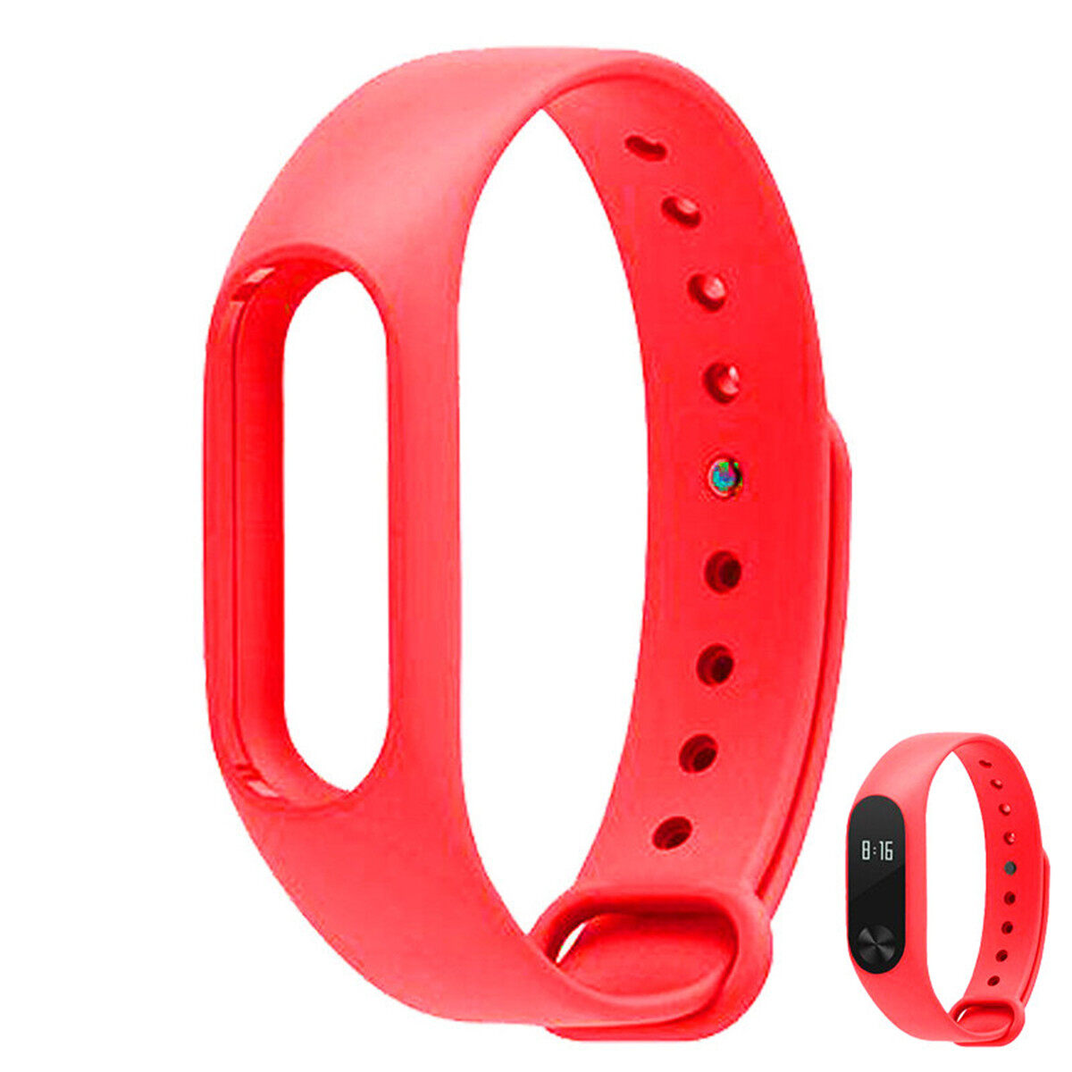 Replacement TPU Wrist Band for Xiaomi MI Band 2 - Red - intl