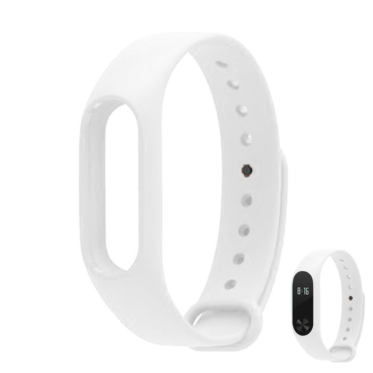 Replacement TPU Wrist Band for Xiaomi MI Band 2 - White - intl