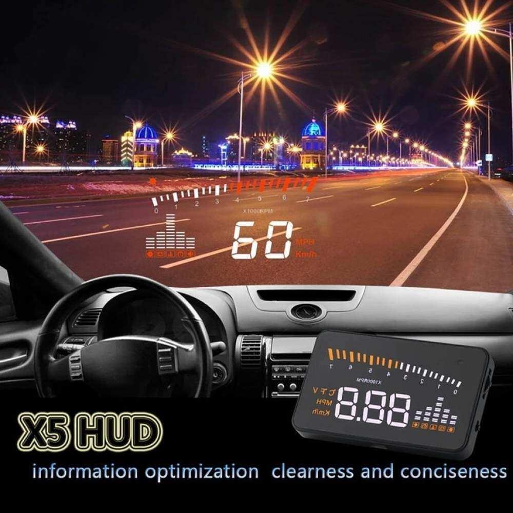 Peta Wali X5 3'''' Universal Multi-Fungsi Yang Dipasang Di Kendaraan Headsup Layar Kaca Depan Mobil OBD II Eobd Model Sistem Kompatibel Withall Mobil