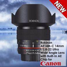 Rokinon AE14M-C 14mm f/2 8-22 Ultra Wide Angle Lens with Built-In AE Chip  for Canon EF Digital SLR - NEW Product