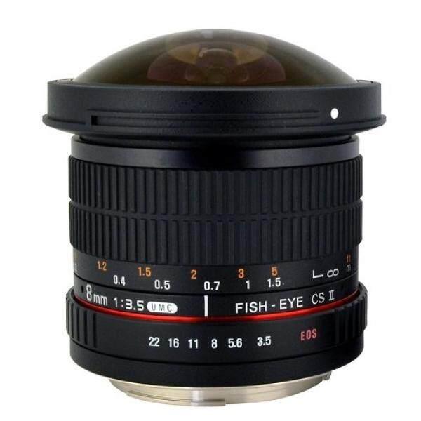 Rokinon HD8M-C 8 Mm F/3.5 HD Lensa Mata Ikan dengan Removeable Hood untuk Canon DSLR 8-8 Mm, tetap-Lensa Variabel-Intl