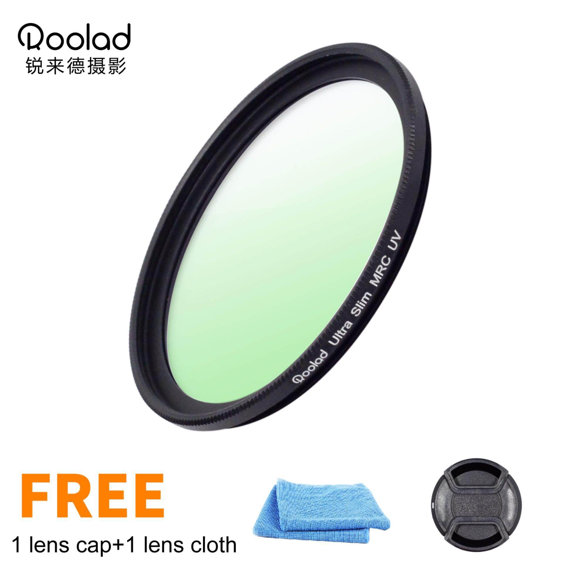 Price Roolad 37Mm Mc Uv Ultra Slim Protect Filter For Camera Lens With Lens Cloth And Lens Cap Black Intl Online China