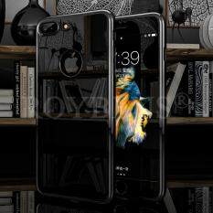 ROYBENS 360° Front & Black Mirror Hard Ultra thin Case + Tempered Glass Cover For
