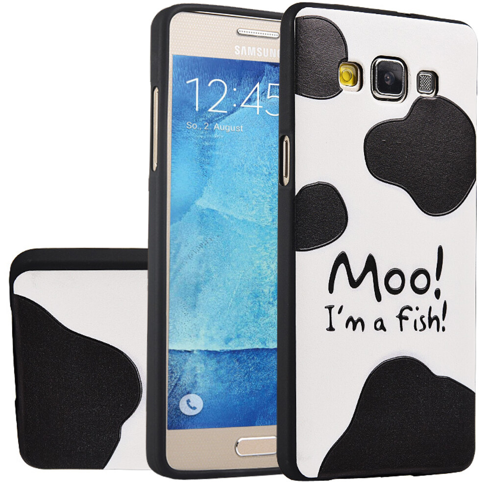 ... Series Protective Cover - intl. Source · RUILEAN Soft TPU Case For Samsung Galaxy A8 Cow Skin 3D Embossed Painting