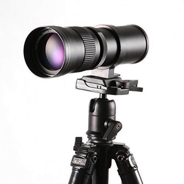 Ruili 420-800 Mm F/8.3-16 Definisi Tinggi Zoom Potret Jarak Jauh Lensa dengan T Penyambung Adaptor untuk Canon EOS EF Mount Kamera DSLR Seperti 1300D 40D 50D 60D 1200D 1100D 1000D 760D 750D 700D 650D 550D 450D 350D-Intl