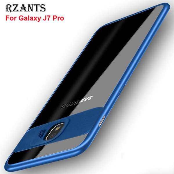 Rzants For Galaxy J7 Pro【Camera Protect】Hybrid Protective Clear Ultra-thin light
