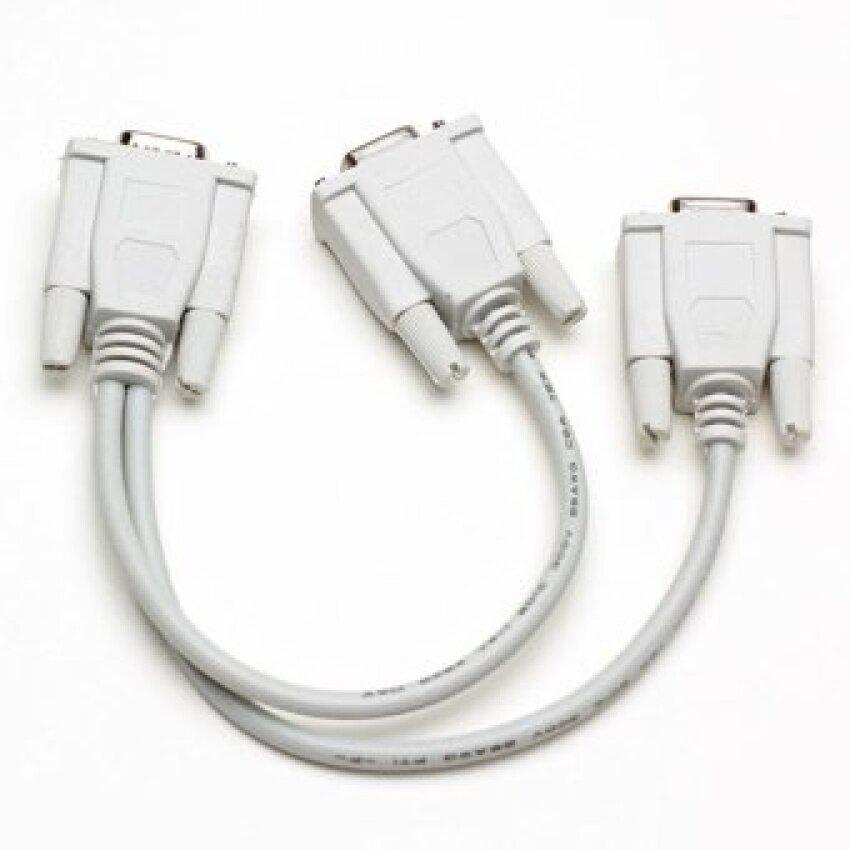 S-VGA Verteiler Y Kabel D-Sub 15pin Stecker 2-x Kupplung  BuchseSplitter Monitor