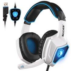 SADES Semangat Serigala 7.1 Suara Stereo Keliling USB Komputer Headset Game dengan Mikrofon Over-The