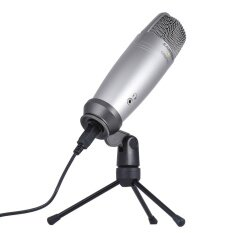 SAMSON C01U PRO USB Studio Condenser Recording Microphone Mic Large Diaphragm with Mini Tripod Stand Swivel Mount USB Cable for Mac iPad PC Laptop Tablet Outdoorfree^