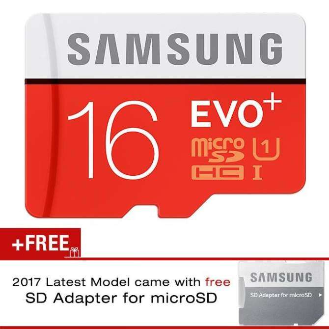 Samsung EVO Plus 16GB 80MB/s Class 10 Micro SD Memory Card with Adapter (SAMSUNG MALAYSIA OFFICIAL WARRANTY)