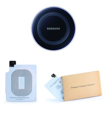 Samsung Wireless Charging Pad Black+ Wireless Receiver For Samsung Galaxy S5 By Jfs Merchandiser.