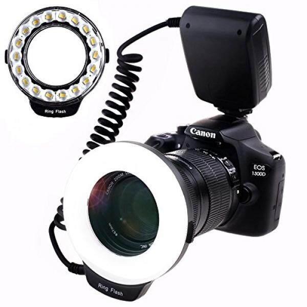 Samtian Makro Cincin-Blitz-Fotografie MIT 18 Pcs SMD LED Cahaya ᄀᄐ3mal Helligkeit Als 48 Pcs LED Cincin -Blitzᄀᄑ F? R Canon Nikon Sony Panasonic Olympus Wie Canon 550D 70D Nikon D3000 D5000 D7000-Intl