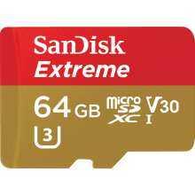 SanDisk Extreme 64GB microSDXC UHS-3 Card - SDSQXAF-064G