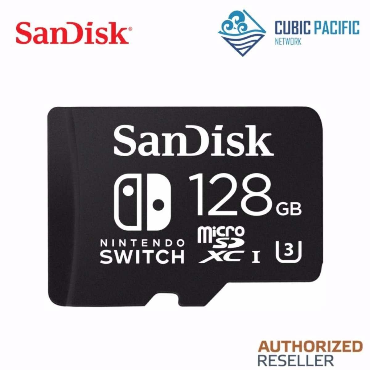 SanDisk Nintendo Switch 128 GB 100 MB/s U3 UHS I Micro SDHC Kartu Memori (SDSQXAO-128G-GN6ZA)