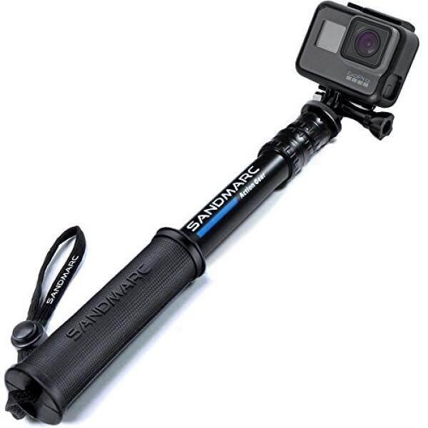 Sandmarc Pole-Edisi Kompak: 25-64 Cm Selfie Stick (Tiang) F? R GoPro Hero 6, HERO 5, 4, Sesi, 3, 2, HD Kameras-Teleskopstange Wasserdicht-F? R Surfen, Schnee, Tauchen, Reisen Und Vieles Mehr-Intl