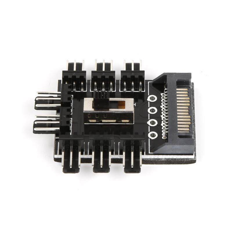 Sata 3-Pin Cooling Fan Hub Speed Controller High/low/off For Pc Computer - Intl By Yiuu.