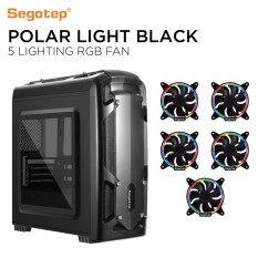 Segotep Polar Light M-ATX Gaming Case + 5x Lighting 12 RGB fan Malaysia