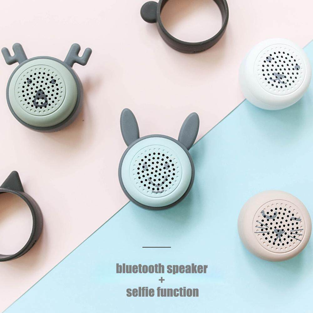 Selfie Mini Bluetooth Speaker For Phone Portable Wireless Speaker Sound Bluetooth Handsfree Cute Catoon Rabbit Cat
