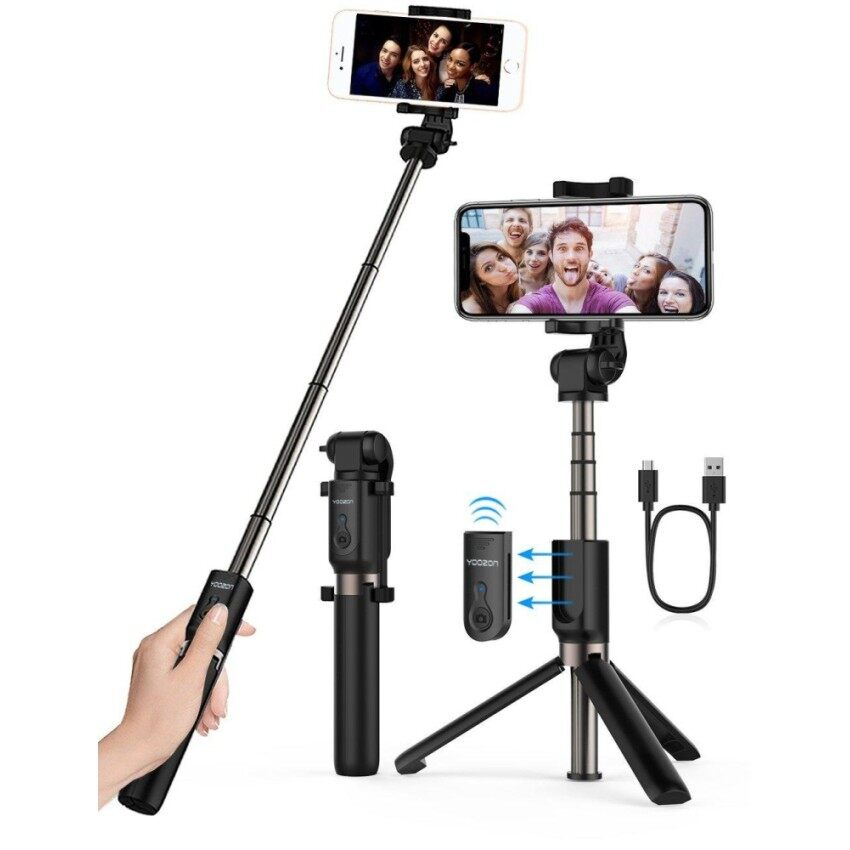 Extendable Selfie Stick with Wireless Remote and Tripod Stand Selfie Stick for