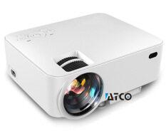 Jual Murah LED Mini-Portable 3D Proyektor Rumahan HD 1080 P Telepon Mini Proyektor Nirkabel (Putih)