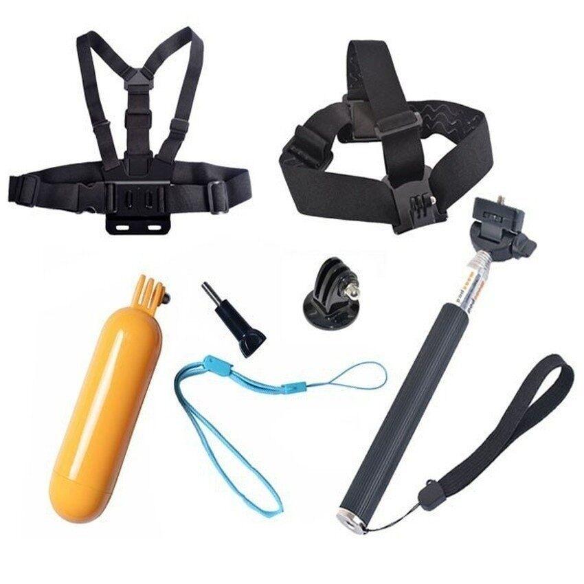 Set aksesori kamera sukan Action Sports Camera Accessories Kit for Go pro hero 6 5 4 3 4k Action Sports Camera xiao mi yi mijia 4k selfie stick chest head strap float bob grip - intl