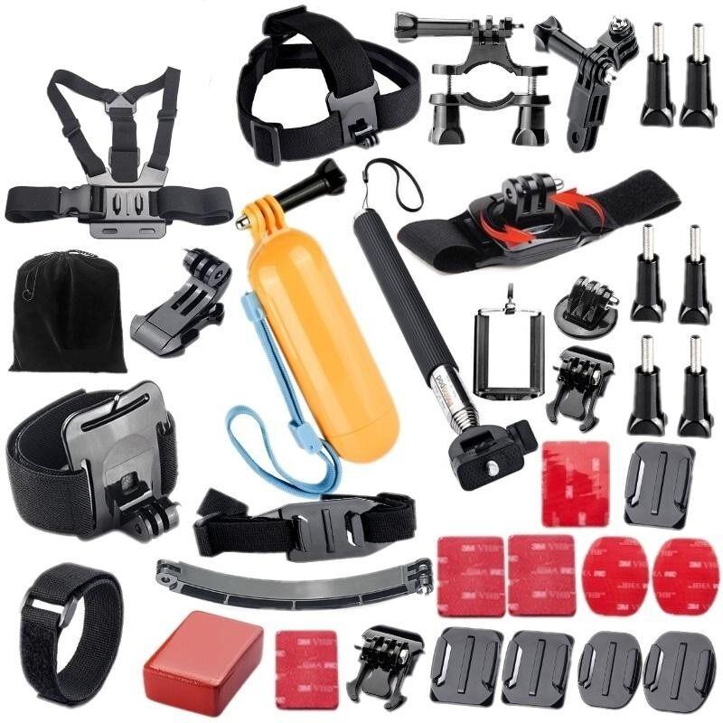 Go pro hero 6/5 Strap Set Aksesori Kamera Sukan Kit helmet mount selfie stick monopod for Go pro Accessories set for go pro hero 6 5 4 3 kit mount for SJCAM SJ4000 for xiao mi XIAO yi MIJIA 4k action sport camera for eken h9 tripod - intl
