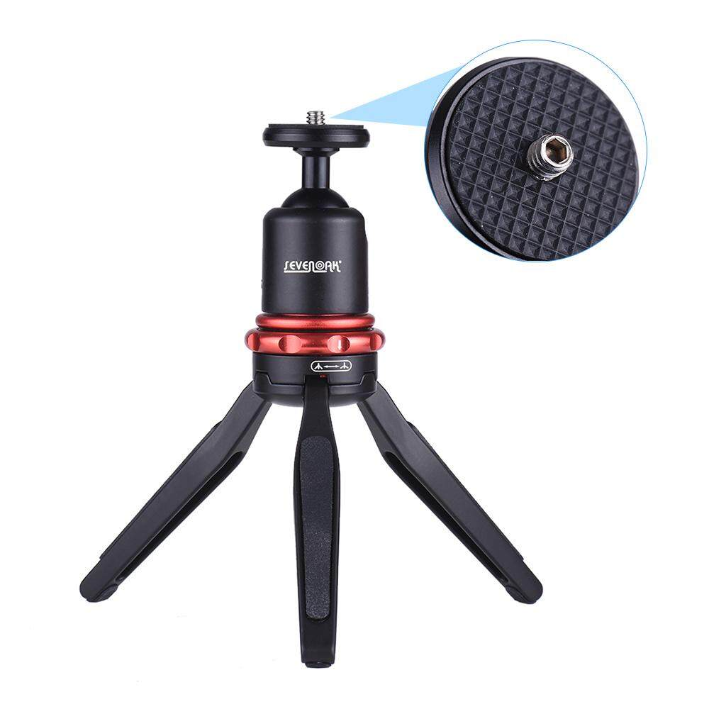 Sevenoak SK-T1 Meja Mini Tripod Video Berdiri Selfie Stick dengan Kepala Bola untuk GoPro Pahlawan 6/5/4/3 +/3 untuk iPhone X 8 7 Plus Smartphone untuk Perkakas Bertualang Kamera Dlsr-Intl