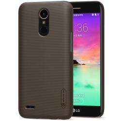 For LG K10 2017 Case Nillkin Frosted Shield Hard Armor Back Cover Case for LG K10 2017 M250 LGM250N X400 + Gift (5.3 inch)