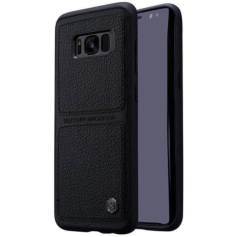 Untuk Samsung Galaxy S8 Case NILLKIN Burt TPU & PC Case S Telepon Kulit PU Kembali