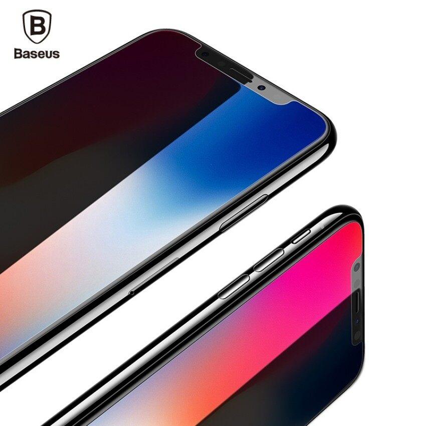 Sheng HOTT (HD) BASEUS untuk iPhone X Soft Penutup Penuh Tepi 3D 0.23 MM Pelindung Layar Hewan Peliharaan Tempered Kaca Kuat Kaca Pelindung Film untuk iPhone 10-Internasional