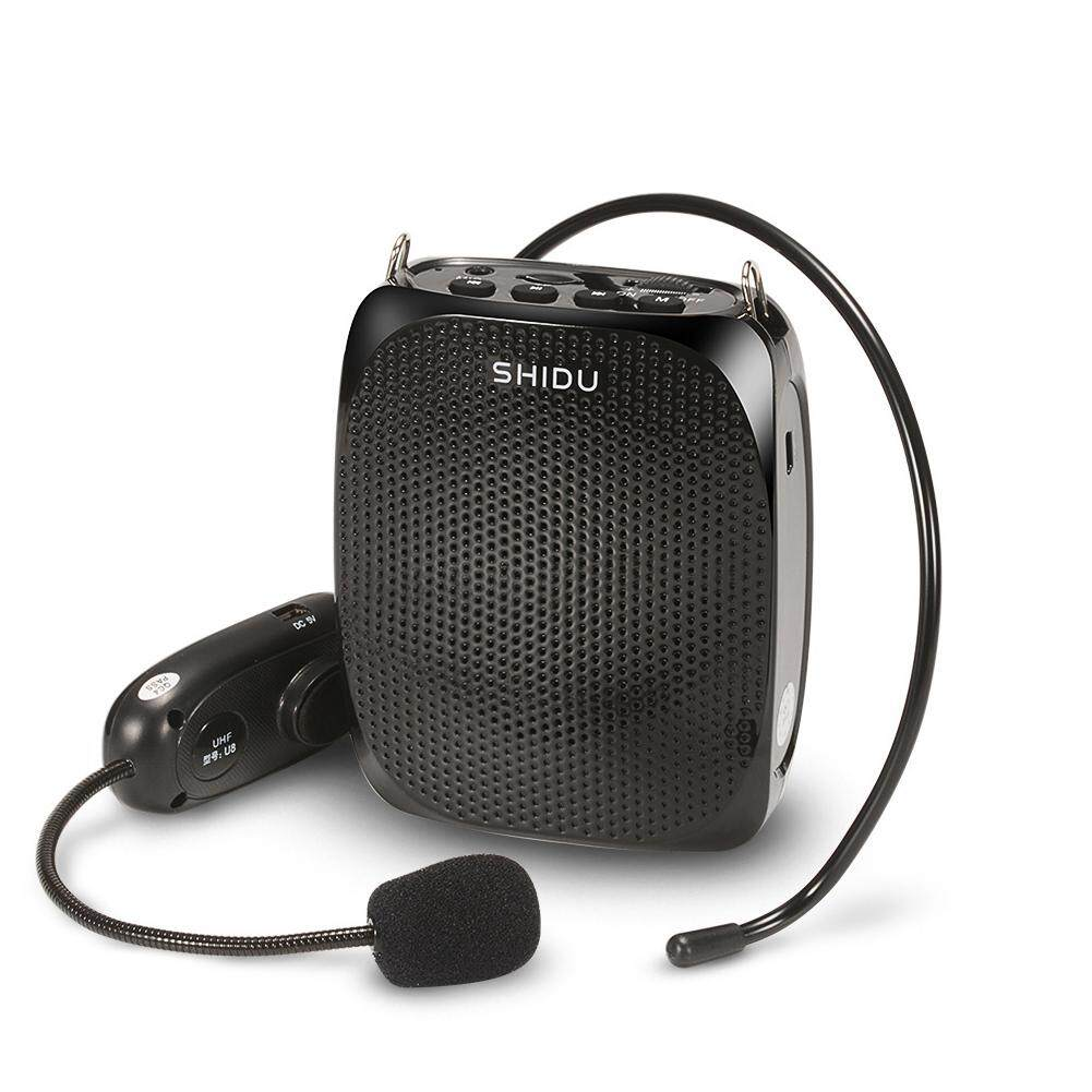 Where To Buy Shidu 10 Watts Uhf Wireless Voice Amplifier With Comfortable Headset Waist Neck Band And Belt Clip For Teachers Tour Guides Training Meeting Support Recording Tf Card,mp3 Format Audio And U Disk Black Intl