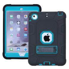 Shock Proof Detachable 2-In-1anti-Dust Protective Tpu + Pc Kickstand Casing For Ipad Mini 1/2/3 - Baby Blue By Tvcc.