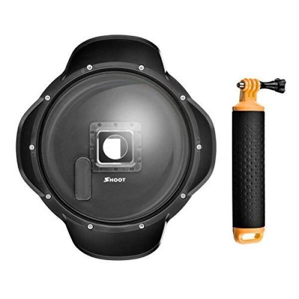 Shoot Dome Port untuk GoPro HERO 3 +/4 Hitam dan Perak Kamera 6 Lensa Inci Hood Penutup Transparan Fotografi Bawah Air (tanpa Wadah Anti Air Case) -Intl