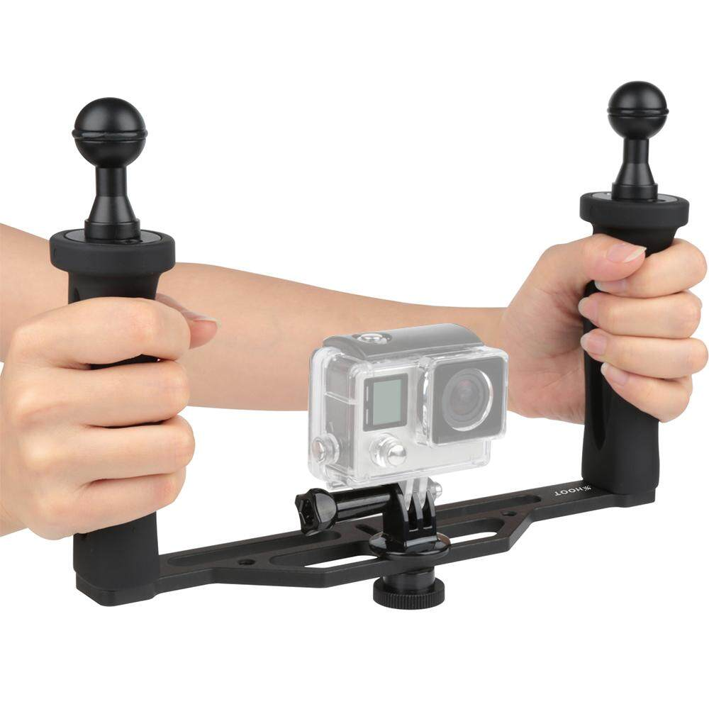 Price Shoot Xtgp324A Aluminum Alloy 18Cm 26Cm Handheld Stabilizer Grip For Gopro 5 4 3 3 And Other Similar Action Camera For 4 Inch 6 Inch Dome Port And Video Light Led Light With 1 4 Tripod Scr*w Hole Intl Not Specified New