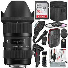 Sigma 18-35mm F1.8 Art DC HSM Lens for Nikon with Deluxe Accessory Bundle and Xpix Cleaning Kit