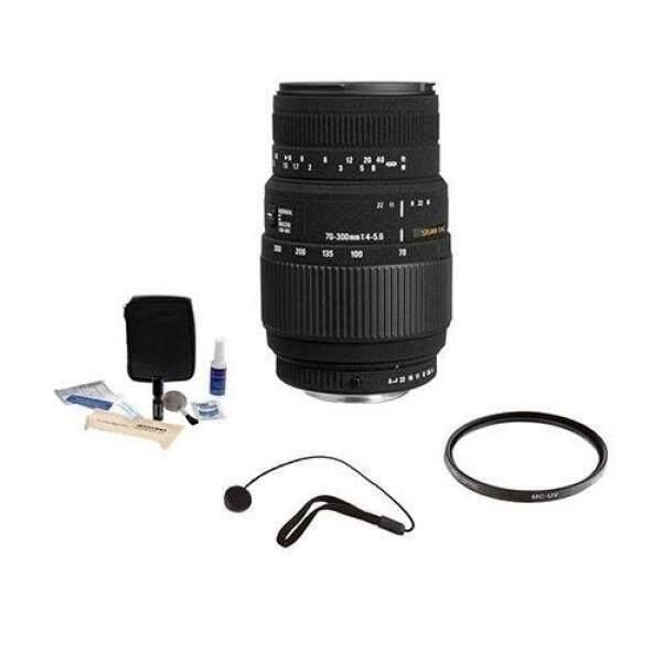 SIGMA 70 Mm-300 Mm F4-5.6 DG Makro Zoom Potret Jarak Jauh Lensa untuk Canon #509101, Bundle-Intl